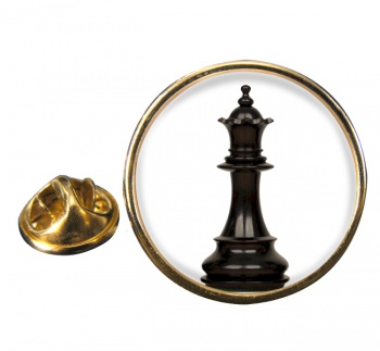 Chess Queen Round Pin Badge