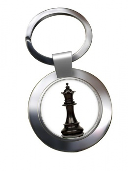 Chess Queen Chrome Key Ring