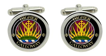 Galloway Scottish Clan Cufflinks in Chrome Box