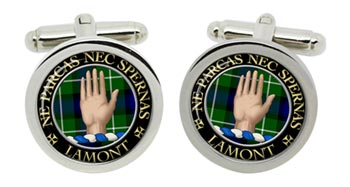 Lamont Scottish Clan Cufflinks in Chrome Box