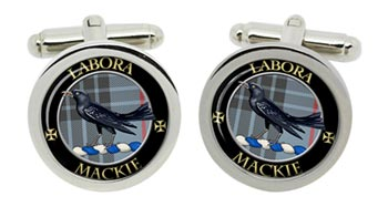 Mackie Scottish Clan Cufflinks in Chrome Box