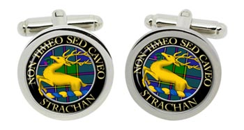 Strachan Scottish Clan Cufflinks in Chrome Box