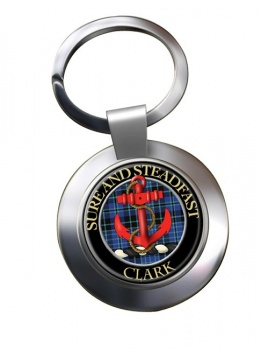 Clark anchor Scottish Clan Chrome Key Ring