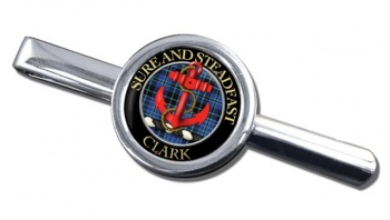 Clark anchor Scottish Clan Round Tie Clip