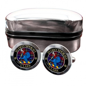 Clark lion Scottish Clan Round Cufflinks