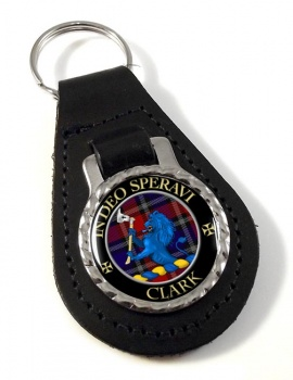 Clark lion Scottish Clan Leather Key Fob