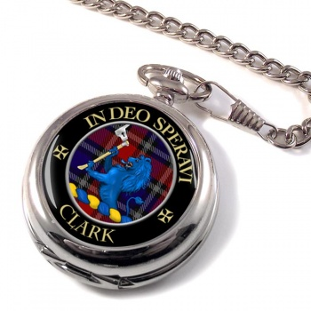Clark lion Scottish Clan Pocket Watch