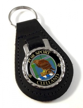 Clelland Scottish Clan Leather Key Fob