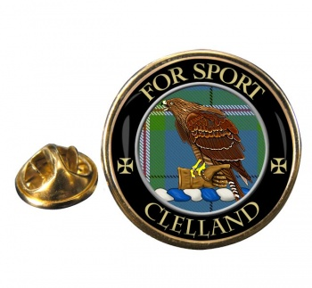 Clelland Scottish Clan Round Pin Badge