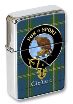 Clelland Scottish Clan Flip Top Lighter