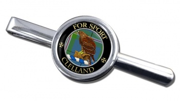 Clelland Scottish Clan Round Tie Clip