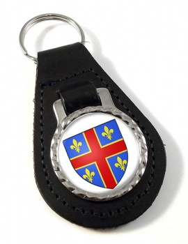 Clermont-Ferrand (France) Leather Key Fob