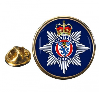 Cleveland Police Round Pin Badge