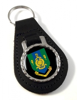 Commando Logistic Regiment Royal Marines Leather Key Fob