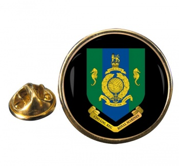Commando Logistic Regiment Royal Marines Round Pin Badge