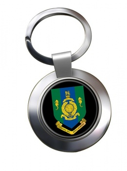 Commando Logistic Regiment Royal Marines Chrome Key Ring