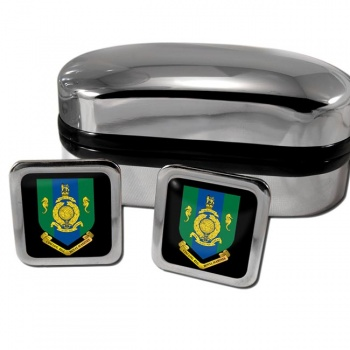 Commando Logistic Regiment Royal Marines Square Cufflinks