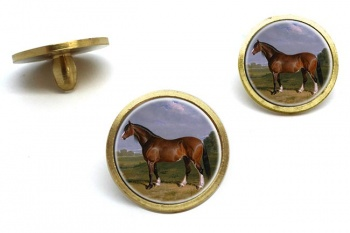 A Clydesdale Stallion by Herring  Golf Ball Marker Set