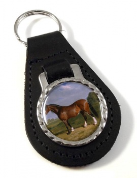 A Clydesdale Stallion by Herring Leather Key Fob