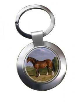 A Clydesdale Stallion by Herring Metal Key Ring