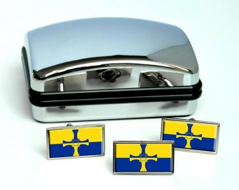 County Durham (England) Flag Cufflink and Tie Pin Set