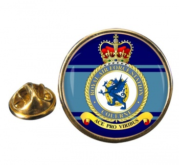 RAF Station Colerne Round Pin Badge