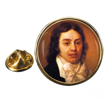 Samuel Coleridge Round Pin Badge