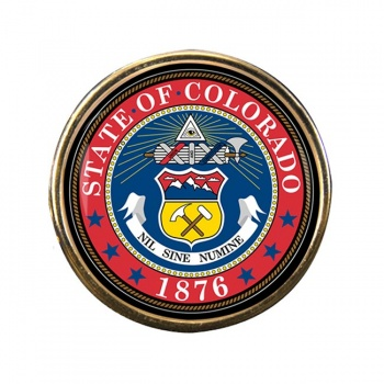 Colorado Round Pin Badge