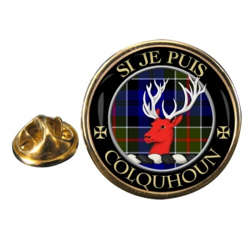 Colquhoun Scottish Clan Round Pin Badge