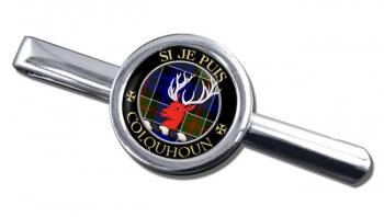 Colquhoun Scottish Clan Round Tie Clip
