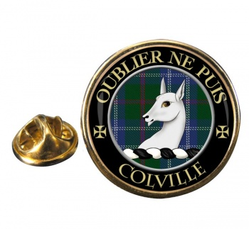 Colville Scottish Clan Round Pin Badge