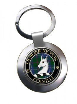 Colville Scottish Clan Chrome Key Ring