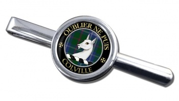 Colville Scottish Clan Round Tie Clip