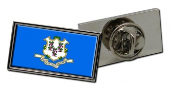 Connecticut  Flag Pin Badge
