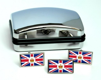 Consular Officer Rectangle Cufflink and Tie Pin Set