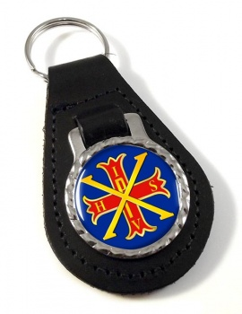 Red Cross of Constantine Leather Key Fob