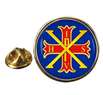 Red Cross of Constantine Round Pin Badge