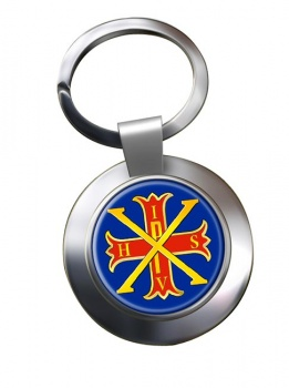 Red Cross of Constantine Chrome Key Ring