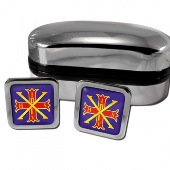 Red Cross of Constantine Square Cufflinks