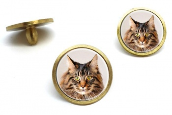 Maine Coon Cat  Golf Ball Marker Set