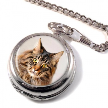 Maine Coon Cat Pocket Watch