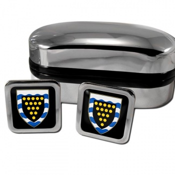 Cornwall England Square Cufflinks