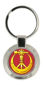 Corps of Engineers (Ireland) Chrome Key Ring