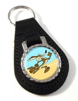 Coyote Leather Key Fob
