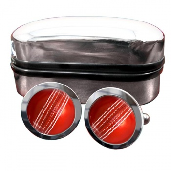 Cricket Ball Round Cufflinks