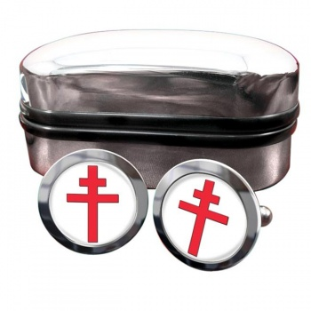 Cross of Lorraine Round Cufflinks
