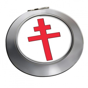 Cross of Lorraine Chrome Mirror