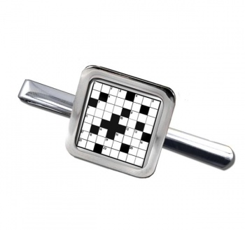 Crossword Puzzle Square Tie Clip