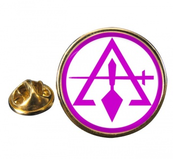 Council of Royal & Select Masters of Cryptic Masons (York Rite) Round Pin Badge