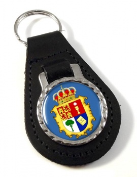 Cuenca (Spain) Leather Key Fob